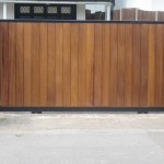Security Wooden Pannel Gate